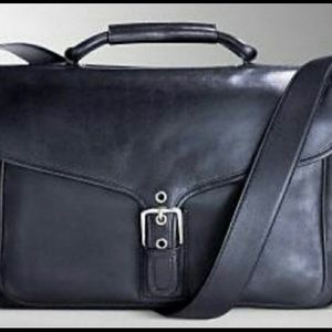 Coach black leather bag. Never been used!